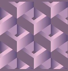 3d geometric modern seamless pattern elegant vector image