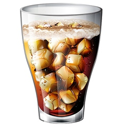 A glass an alcoholic mixed drink vector