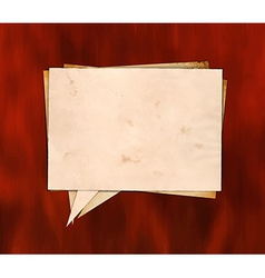 Aged paper speech bubble on wood vector