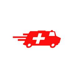 Ambulance van vehicle speeding simple business vector