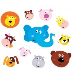 Animal emoticons vector