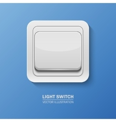 background with realistic light switch vector image