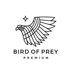 bird prey monoline logo icon vector image