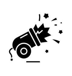 bomb effect black icon concept vector image