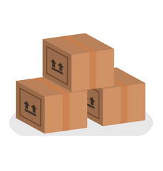 Boxes set delivery design vector