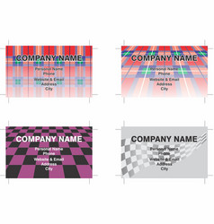 Business cards 6 vector