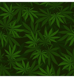 Cannabis seamless pattern vector image