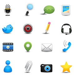 Chat application and social media icons vector image