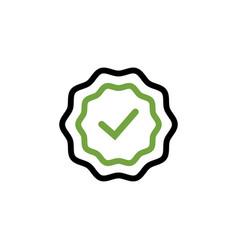 checklist tick badge icon design template vector image