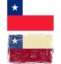 Chilean grunge flag vector