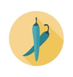 Chilli pepper flat icon Vegetable vector