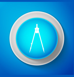 Drawing compass icon isolated on blue background vector