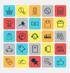 E-commerce icons set collection of business vector