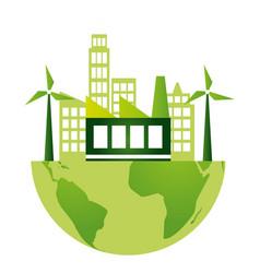 eco friendly environment vector image