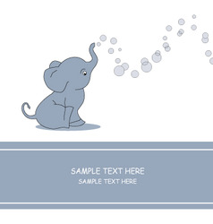 elephant bubble vector image