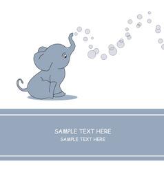 Elephant bubble vector