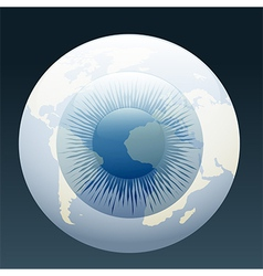 eyeball globe vector image