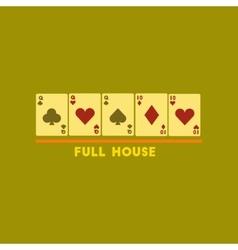 Flat icon on stylish background full house vector