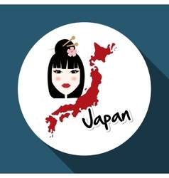 Flat of japan design vector
