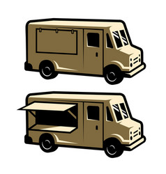 food truck template vector image
