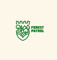 forest patrol logo vector image