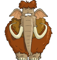 furry mammoth vector image