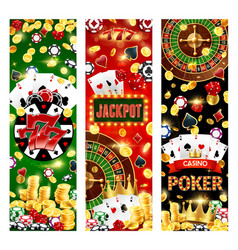 Gambling games lucky sevens and wheel fortune vector