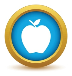 Gold apple icon vector image