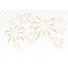 gold fireworks vector image