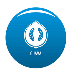 Guava icon blue vector