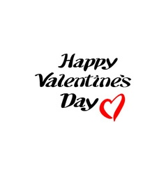 happy Valentines day and typography elements vector image