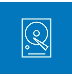 Hard disk line icon vector image