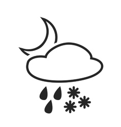 Heavy rain with snow Sleet shower vector image