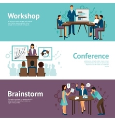 Horizontal Banners Of Business Training vector