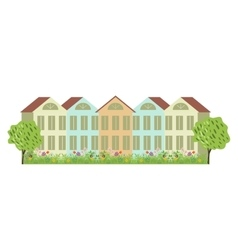 Houses and garden vector