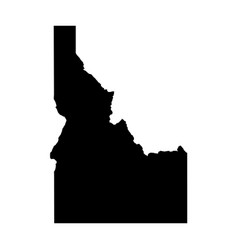 Idaho state of usa - solid black silhouette map vector