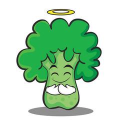 Innocent broccoli character cartoon style vector
