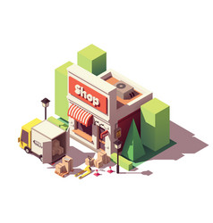 Isometric goods delivery icon vector