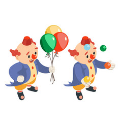 juggling funny performance isometric circus vector image