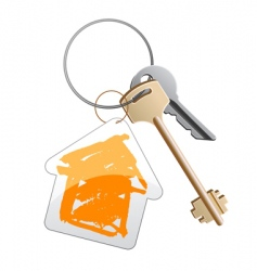 keys with trinket vector image