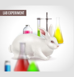 Lab experiment poster vector