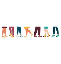 Legs in socks hand drawn male and female foot vector