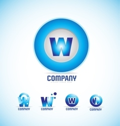 Letter W circle logo vector image