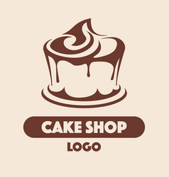 logo cake shop vector image