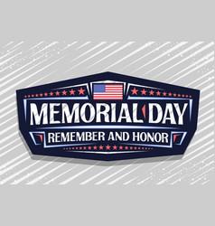 Logo for memorial day vector