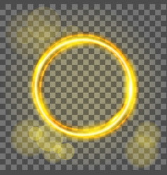 magic gold circle flare special effect vector image