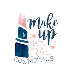 Make up natural cosmetic logo label for beauty vector