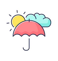 Meteorology rgb color icon vector