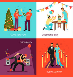 party concept set vector image