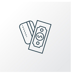 payments option icon line symbol premium quality vector image